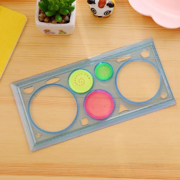 Painting Multi-function Puzzle Spirograph Geometric Ruler Drafting Tools For Students Drawing Toys Children Learning Art Tool 4