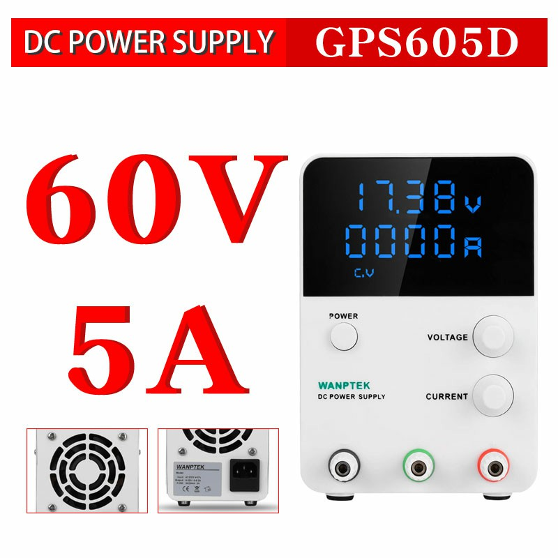 Mini DC Switching Power Supply 4 Digits LED voltage regulator 60V 5A power source Variable Adjustable AC 220V 50Hz