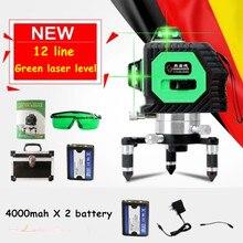 Professionelle 12 Linie 3D laser level 360 Vertikale Und Horizontale Laser-niveau selbstverlaufende Cross Line 3D Laser Level grüne linie