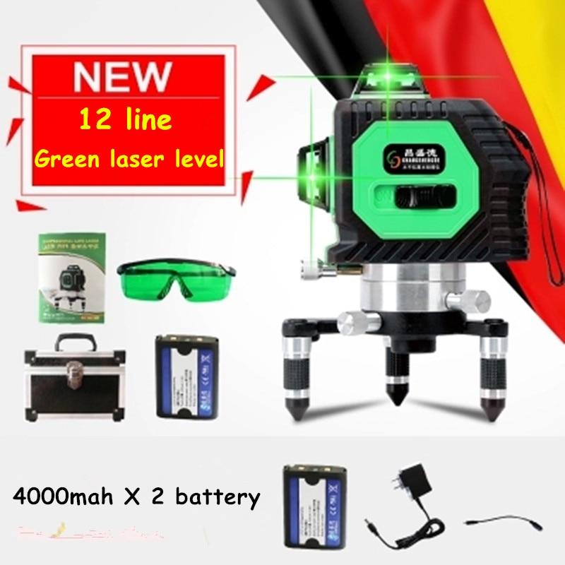 Professional 12 Line 3D Laser Level 360 Vertical And Horizontal Laser Level Self Leveling Cross Line