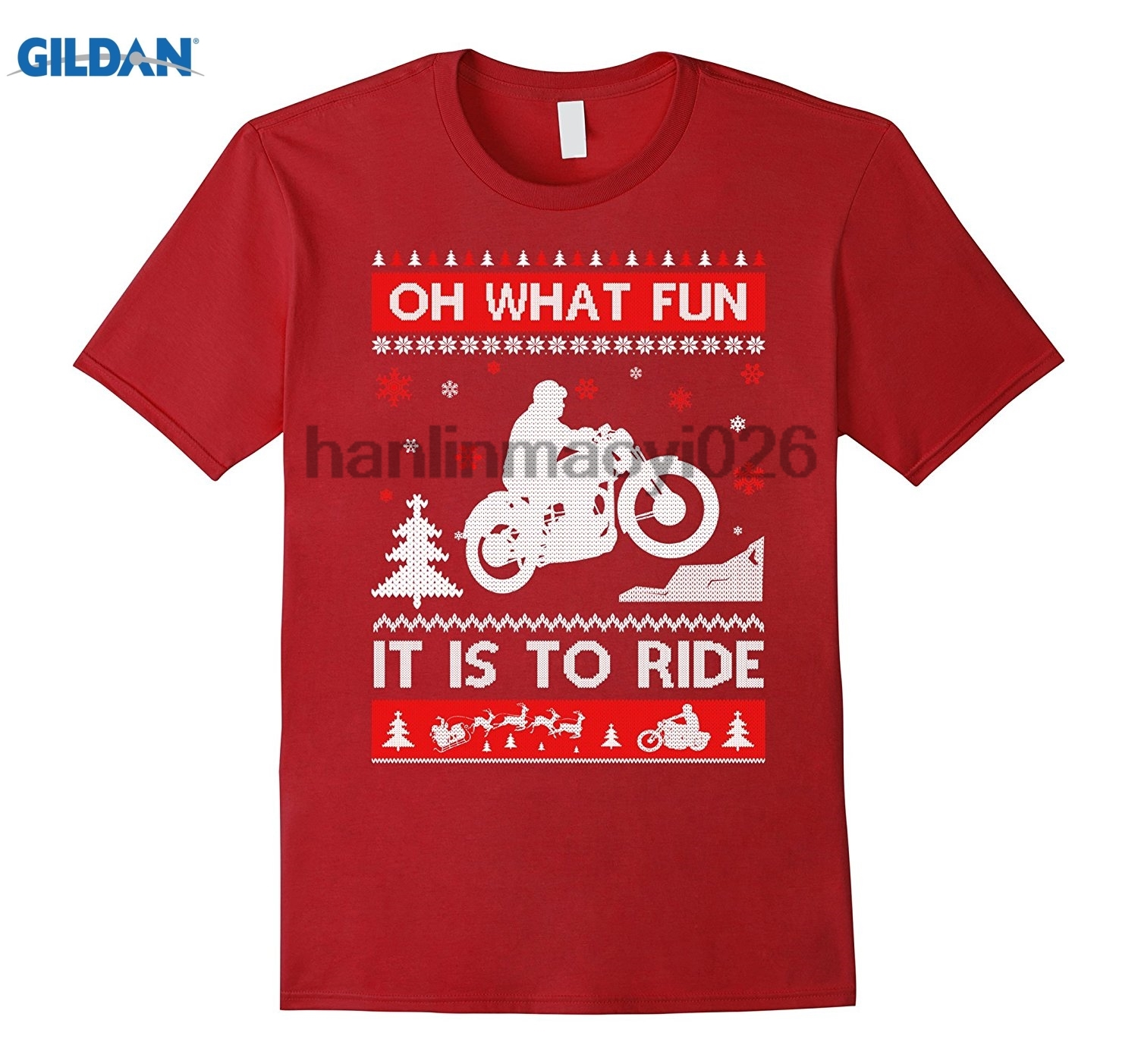 GILDAN Sweater Christmas Oh What Fun It Is To Ride Shirt