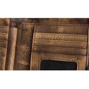 Image 3 - AETOO portefeuille en cuir fait à la main Original, court couche de cuir rétro, verticale, fermeture éclair, boucle masculine, porte monnaie, couple, Vintage