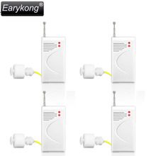 New Earykong 4 pcs/lot 433MHz Wireless Water Level Detector For Home Security Alarm System, Waterproof