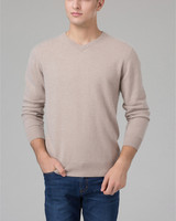 100% козья кашемир мужские деловые пуловер свитер v-образным вырезом бордовый joler цвет S/105-3XL/130