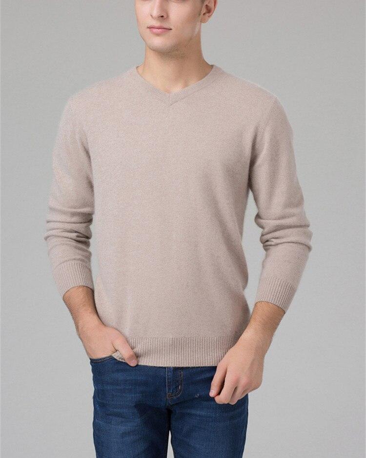 100% kozy kaszmiru męska biznes sweter sweter z dekoltem w