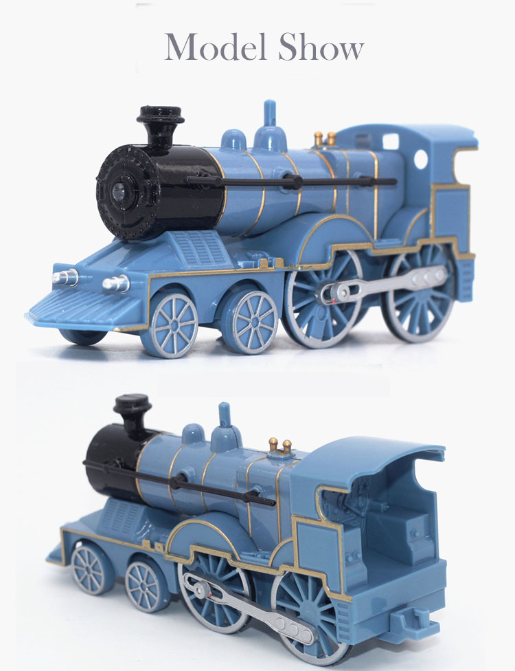 1:55 Collection Train Model Classical Alloy Retro Steam Train Model with Sound and Light Flashing Children's Education Toys