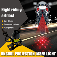 Motorcycle For Current Laser Decorative Projection Tail Anti Collision Fog Taillight Brake Driving Warning Rear LED