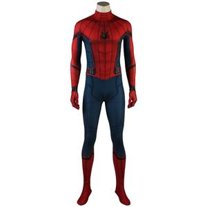 In Stock Spider-Man Homecoming Costume Peter Parker Cosplay Jumpsuit Zentai Bodysuit Superhero Adult Halloween Carnival Outfit(China)