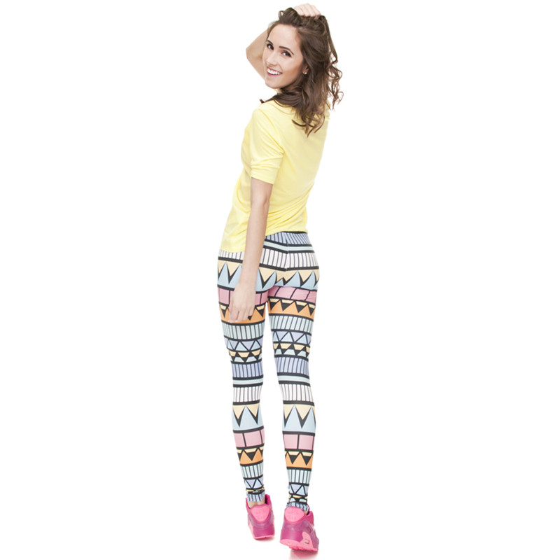 Zohra Brand New Fashion Aztec Printing legins Punk Women's Legging Stretchy Trousers Casual Slim fit Pants Leggings 19