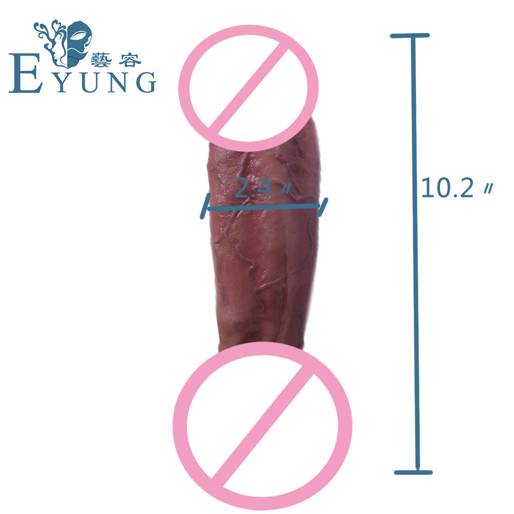EYUNG 10.2 inch Strong suction cup DICK for female sex toys Texture Realistic Huge penis for Women Sucker dildos G point massage new anal dildo realistic dildo with strong suction cup fake penis long butt plug anal plug sex toys for women sex products