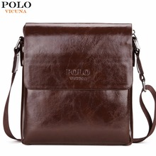 VICUNA POLO Brand Oil PU Leather Mens Messenger Bag High Quality Casual Male Bag Briefcase Simple Leisure Mens Cross body Bag