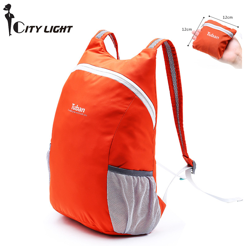 Out Door Men And Women Travel Ultra-Light Skin Bag Foldable Soft Cute School Backpack Waterproof Portable  Backpack