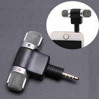 Marsnaska 3.5mm Interface Portable Mini Mic Digital Stereo Microphone for Recorder Mobile Phone