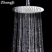 10 Inch Big Stainless Steel Waterfall Head Temperature Control Colorful Light Rainfall Head Round Hydropower Shower
