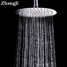 10 inch Big Stainless steel waterfall head Temperature control colorful light rainfall round Hydropower shower ZJ054