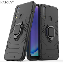 Vivo Y17 Case Cover for Vivo Y17 Magnetic Finger Ring Phone Case Bumper Protective Hard PC Armor Case For Vivo Y3 V1902 V1901 vivo y91 case cover for vivo y91 magnetic finger ring phone case shell bumper protective hard pc armor case for vivo y91 y95