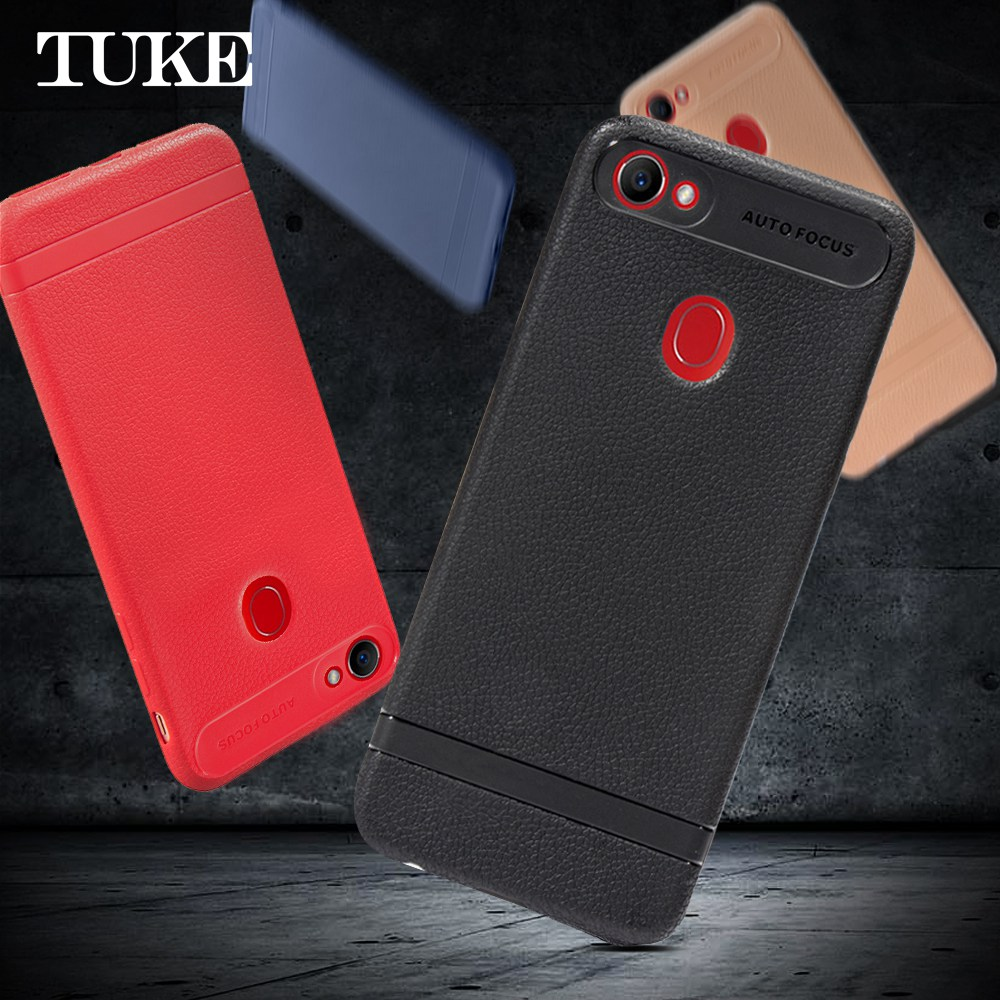 Case For OPPO F7 Case Litch Pattern Soft Silicone TPU Cover Cases For OPPO F 7 Funda Shockproof Mobile Phone Case
