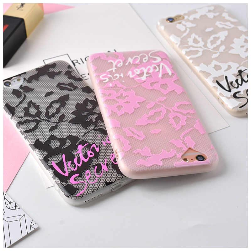 b6cb0ea11b964 Hot black pink white Victoria secret scrub Transparent TPU case for iPone 6  case 6/6s plus