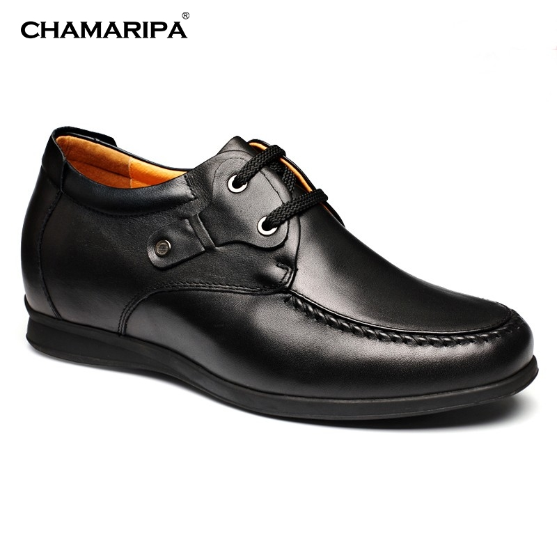 CHAMARIPA Increase Height 6.5cm/2.56 inch Men Elevator Shoe Slip-On Casual Height Increasing Shoes  Cow Leather Elevator Shoes new arrival 2015 casual men calf leather shoes handmade high top leather elevator shoes internal height increase shoe 6 5cm