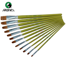 Watercolor Panting Brush Set Different Shape Round Pointed Tip Paint Brush Painting Tool Drawing Brushes Supplies G1860