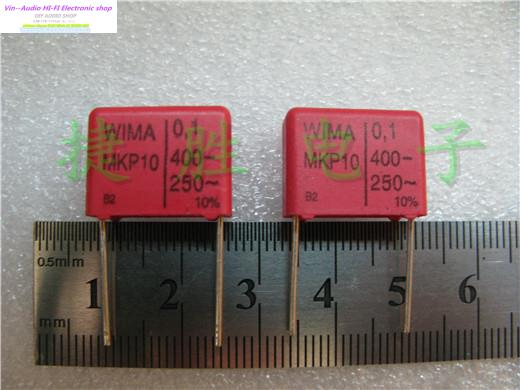 2018 sale Rushed New Red Supercapacitor Bolsa 20PCS Wima Mkp10 400v 0.1uf 104 P:15mm For Audio Coupling Capacitors Free Shipping