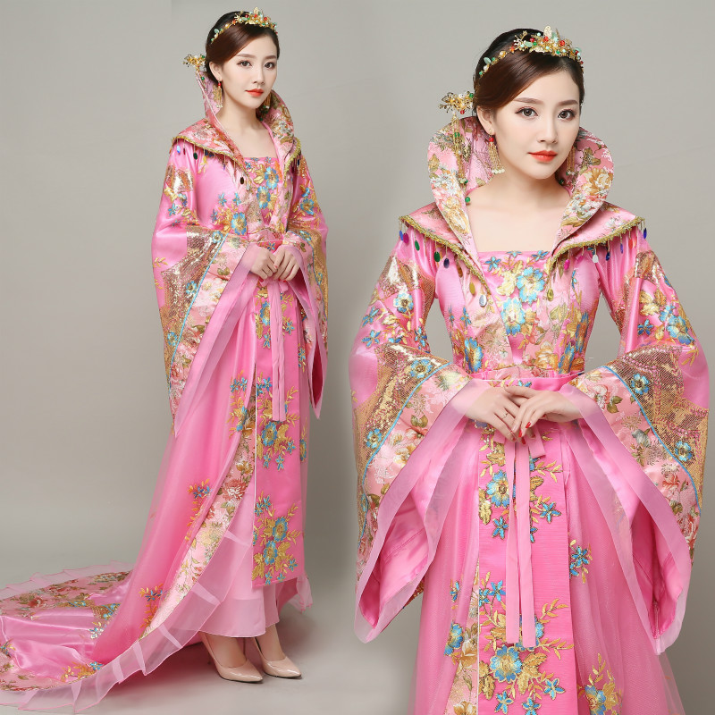 Ancient Queen Dress Tang Dynasty Fairy Long Tailed Costume Empress Clothing Traditional Princess Ancient China Royal Women Dress