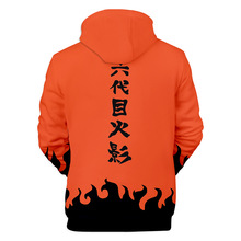 Out Fashion Streetwear Cartoon 3D Naruto Hoodies Sweatshirts Men Women Orange Black Hoodie Naruto Jacket Coat