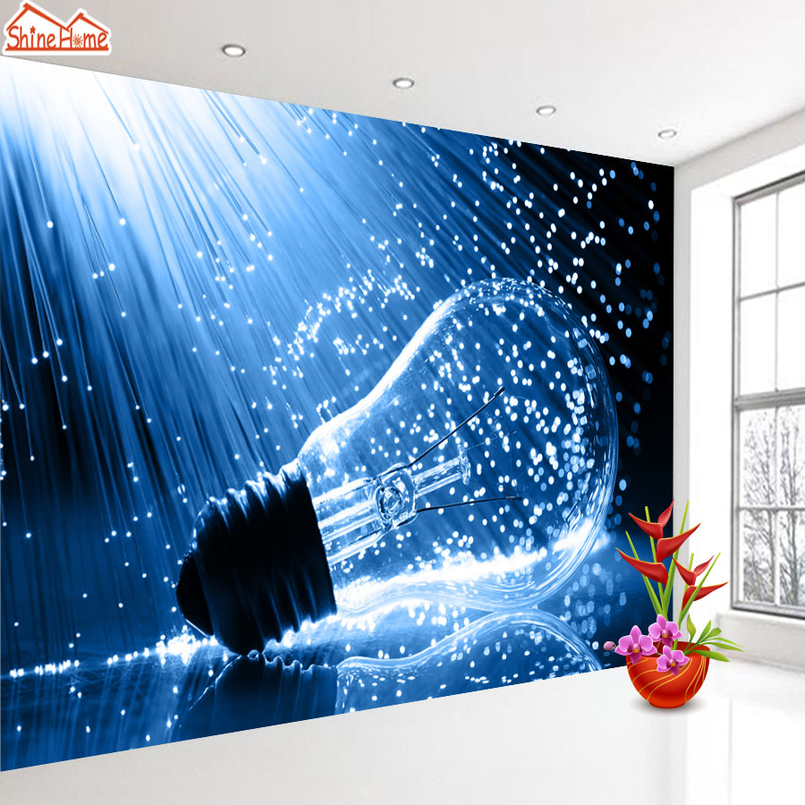 ShineHome-Lamp Bulb in Water Art 3d Wallpaper Wallpapers Photo Walls Murals for 3 d Living Room Still Life Home Roll Wall Paper shinehome sunflower bloom retro wallpaper for 3d rooms walls wallpapers for 3 d living room home wall paper murals mural roll