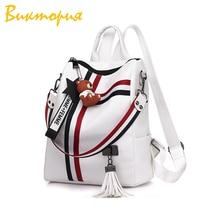 CHRARS brand waterproof bacpack women/girl Multifunction fashion Student backpack Bear jewelry tassel Accessories Shoulder Bags