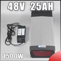 Задняя стойка 48 В в 750 Вт 1000 Вт электрическая велосипедная батарея В 48 В 25Ah NCR18650PF ячейки литиевая батарея со светодио дный лампой USB порт bbshd б