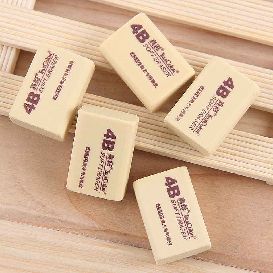 3pcs/lot 4B Promotional Eraser Pencil Students Painting For Eraser Painting Art Stationery Office Drawing Soft Eraser