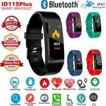 Smart Bracelet Sport Bluetooth Wristband Heart Rate Monitor Watch Activity Fitness Tracker 115Plus SmartBand PK Mi band 2 smart wristband id107 heart rate monitor smartband fitness tracker sport bracelet pulsometer smart band pk fitbits mi band 2