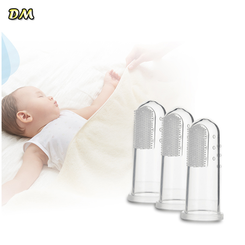 Wholesale 20 pcs New Soft Safe Baby Kids Silicone Finger Toothbrush Gum Brush For Clear Massage