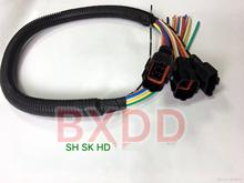 Kobelco Excavator Electronic Pump Plug Wiring Harness 3 lines Kobelco Excavator Wiring Harness Outside Wiring Harness for kobelco sk220 3 bucket cylinder seal repair service kit excavator oil seals 3 month warranty
