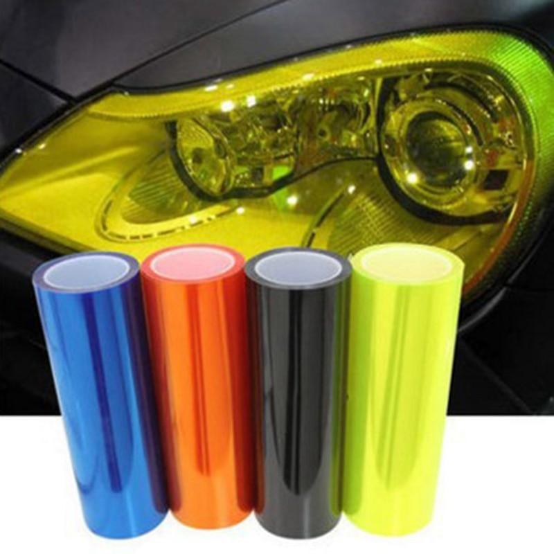 30x60CM PVC Decorative Car Wrap Film Trim Fashion Decal Car Light Headlight Color-Changing Covering Film Car Accessories