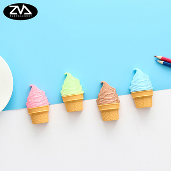 1X Creative cute ice cream pencil sharpener Cartoon Kawaii Stationery Pencils Sacapuntas School office supplies Gift