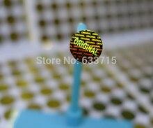 ¡Diámetro 8mm color dorado, USD 15,6/1500 piezas etiqueta adhesiva de holograma láser, sello de garantía versátil! Vacío si se quita