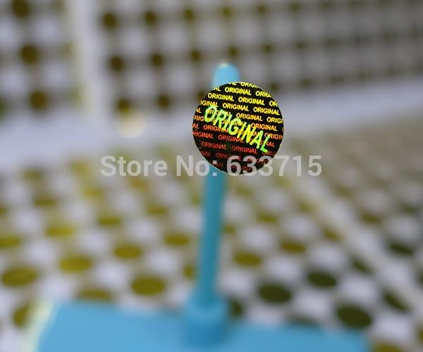 diameter 8mm gold color  , USD 15.6/1500 pieces laser hologram sticker label,warranty seal  versatile ! void if removed