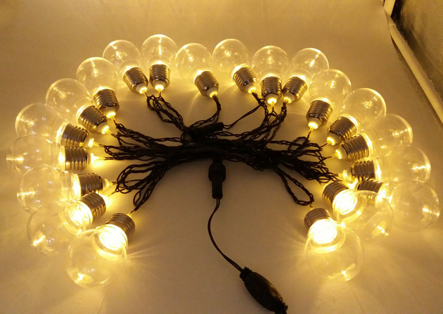 Novelty Christmas Lights Outdoor Luces Navidad 5cm Balls LED String Fairy Lights lamps Black Wire New Year Christmas Garlands