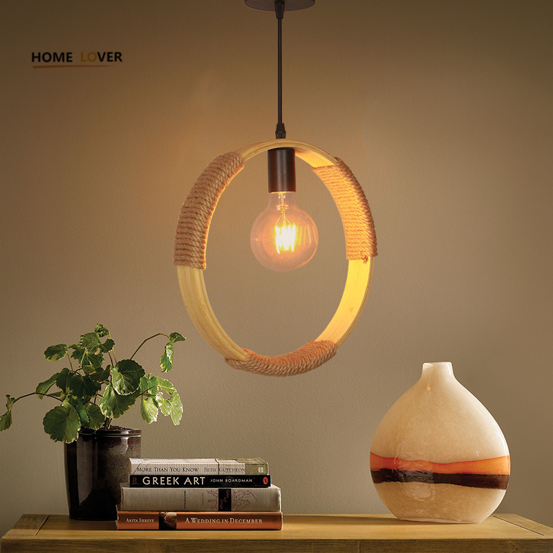 Vintage Rope Pendant Light Lamp Loft Creative Personality Industrial Lamp Edison Bulb Pendientes American Style For Living Room vintage led pendant lights lamp loft creative personality industrial lamp edison bulb american style for dining room decoration