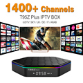 Núcleo octa Android Árabe IPTV BOX T95ZPLUS Frete 1400 Europa Árabe Canais de IPTV S912 2 GB/16 GB TV Box WIFI H265 KODI Media Player
