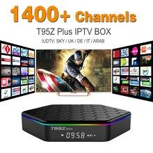 Octa Core Android Árabe IPTV CAJA T95ZPLUS Envío 1400 Europa Árabe IPTV Canales S912 2 GB/16 GB TV Box KODI Reproductor Multimedia WIFI H265