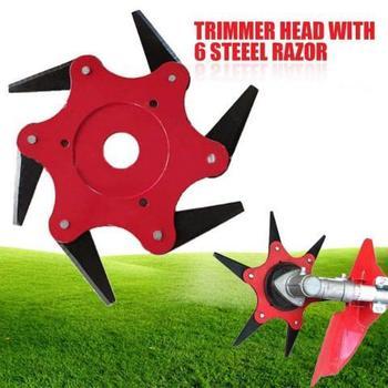 цена на Metal Grass Trimmer Head Parts Blade Brush Cutter Universal Garden Grass Trimmer Metal Head Chain Accessories Starter Trimmer