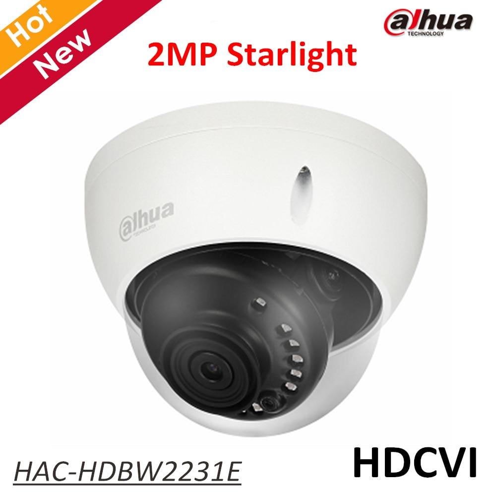 Dahua Starlight HDCVI Camera HAC-HDBW2231E 2MP IR Dome 30m HD and SD output 3.6mm fixed lens IP67 Security cam