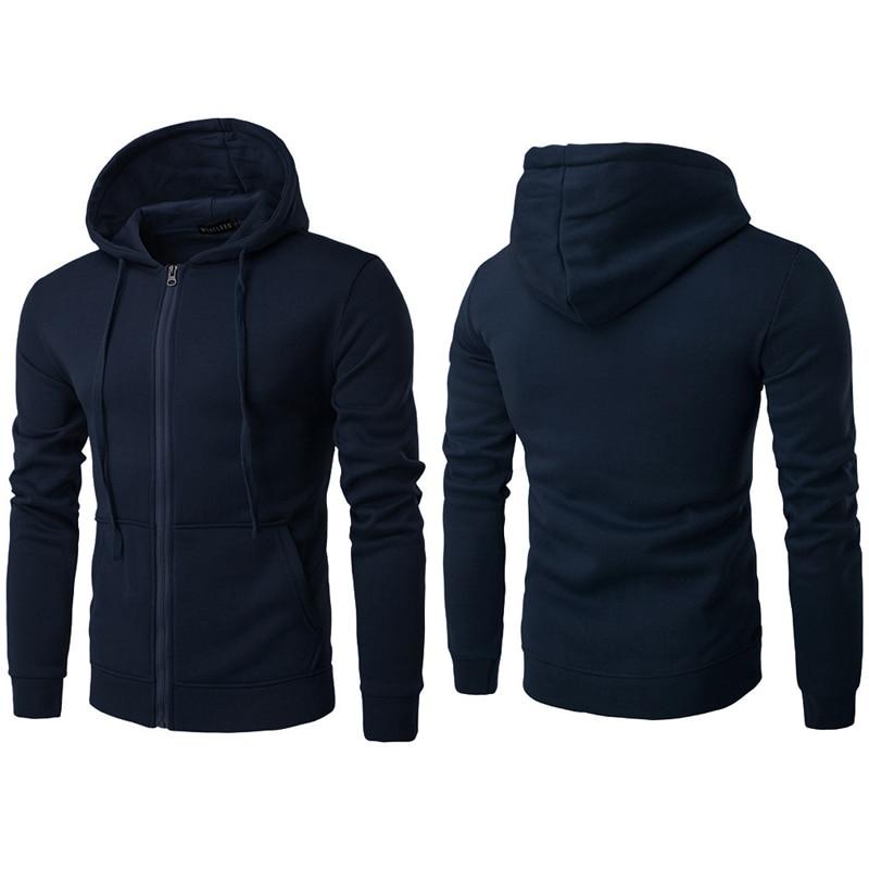 Herren Sportjacke 2018 New Herbst Winter Solid Zip Pullover Hoodie Sweatershirt Kapuzenmantel Workout Jogger Laufjacken L 3XL