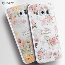 For Samsung Galaxy S6 Case High Quality Soft TPU 3D Relief Painting Stereo Feeling Back Cover Phone Bag Hot New Style