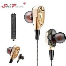 Double Unit Drive In-Ear Earphone for Huawei Y7 Y7 Prime 2018 Y6 Pro 2017 Y5 Sup