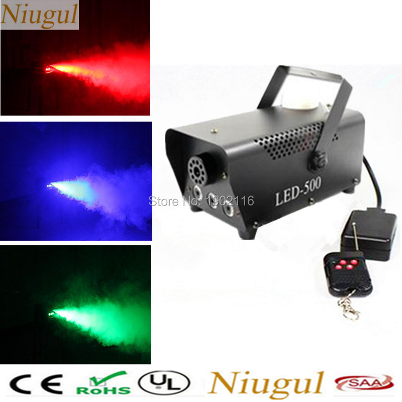 LED RGB change color 500W Led fog machine remote control 500W Led smoke machine professional DJ lighting equipment light effects color change remote control led animal shape night light