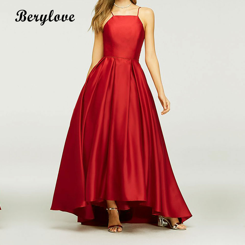BeryLove Long Ball Gown Red Evening Gowns 2018 Simple Evening ...