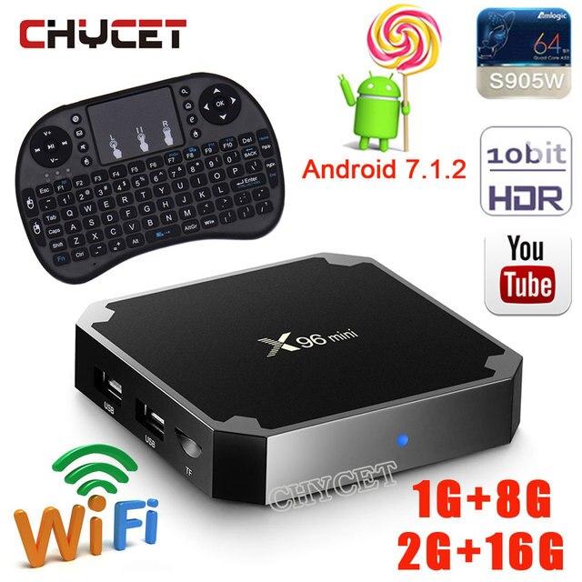 X96 mini Android 7.1 Smart TV BOX 2GB 16GB 1GB 8GB Amlogic S905W Quad Core Support H.265 UHD 4K WiFi Media Player set top box